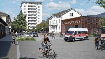Grüner als heute: So soll der Bahnhofplatz Grenchen Süd dereinst gestaltet werden.