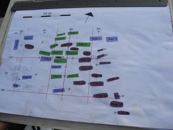 Plan der Grabung