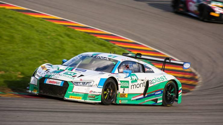 Jeffrey Schmidt ist im Sonntagsrennen bester Audi-Pilot des ADAC GT Masters.