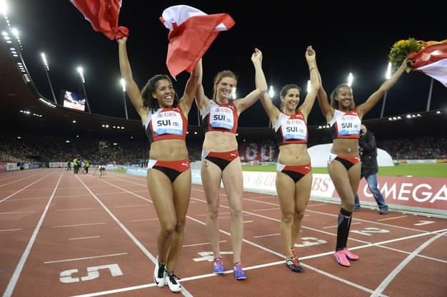 verpasst es die Schweizer Frauenstaffel über viermal 100 Meter, den Landesrekord (42.94) zu brechen. 43.10 Sekunden genügen für den vierten Rang.