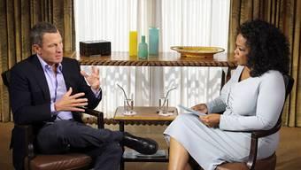 Lance Armstrong im Gespräch mit US-Talkmasterin Oprah Winfrey.
