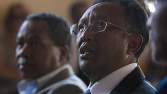 Madagaskars Präsident Hery Rajaonarimampianina. Zwischen ihm und Premierminister Ravelonarivo gibt es seit längerem Meinungsverschiedenheiten. (Archiv)