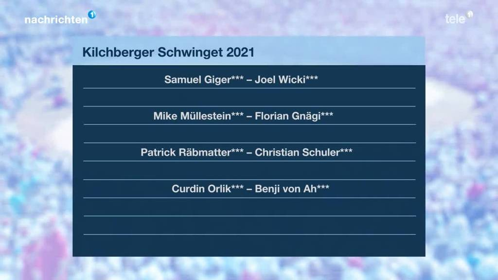 Spitzenpaarungen Kilchberger Schwinget