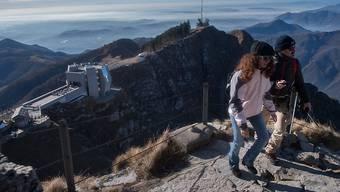 Aussicht vom Gipfel auf dem Tessiner Ausflugsberg Monte Generoso. (Archivbild)