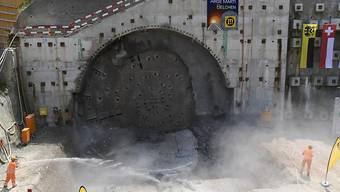 Durchstich Sanierungstunnel Belchen 21.06.17