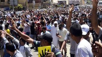 Anhänger der Muslimbruderschaft demonstrieren in Kairo
