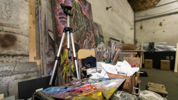 Blick ins Atelier.