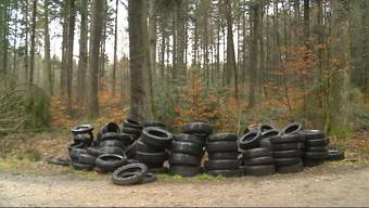 Über 100 Pneus wurden in Tscheppach gefunden. Ein Ärgernis für die Gemeinde, zumal es allein im letzten Jahr bereits vier ähnliche Fälle gegeben hat.