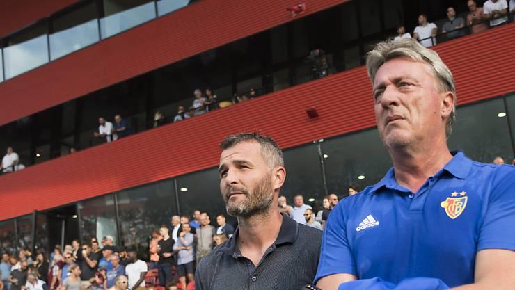Marco Schällibaum hier an der Seite von Alex Frei ist neuer Ausbildungsleiter im FCB-Nachwuchs.