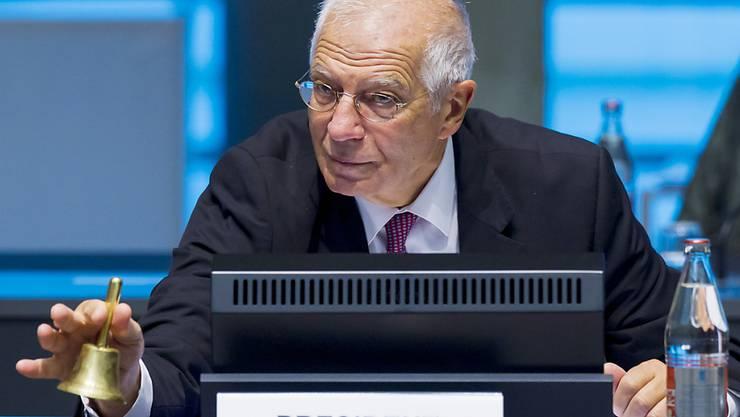 Der EU-Außenbeauftragte Josep Borrell zu Beginn des Treffens der EU-Außenminister in Luxemburg. Foto: Jean-Christophe Verhaegen/AFP Pool/AP/dpa