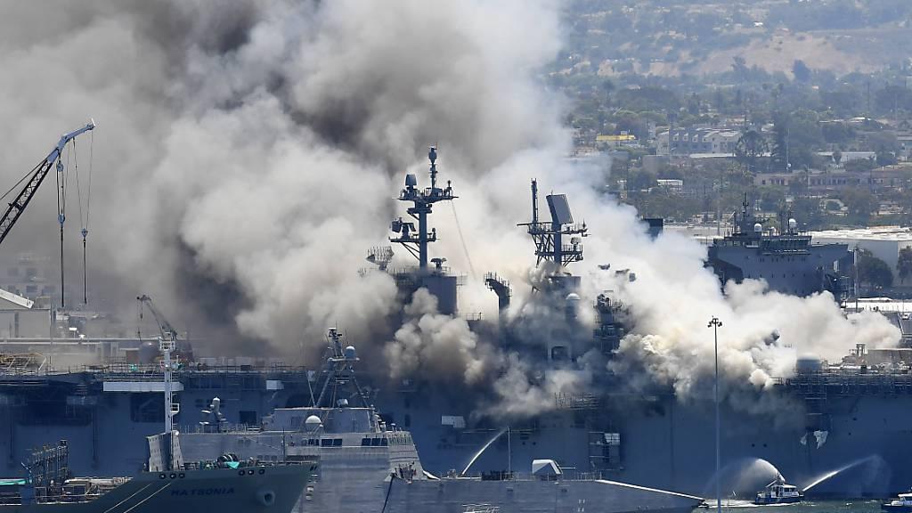US-Marine geht nach Grossbrand auf Kriegsschiff gegen Soldat vor