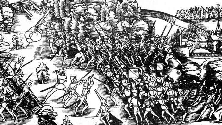 In der Schlacht bei Kappel unterlagen die reformierten Kantone den katholischen Orten. Auch Johannes Bullinger, Bruder des Zürcher Reformators Heinrich Bulliger, nahm an der Auseinandersetzung teil. Key