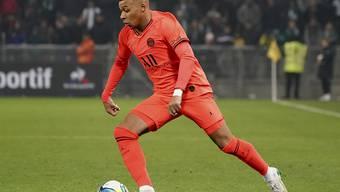 Kylian Mbappé traf in Saint-Etienne zweimal