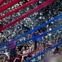 San Lorenzo ist der neue Partnerklub vom FCB. In den Farben sind die beiden schonmal vereint.