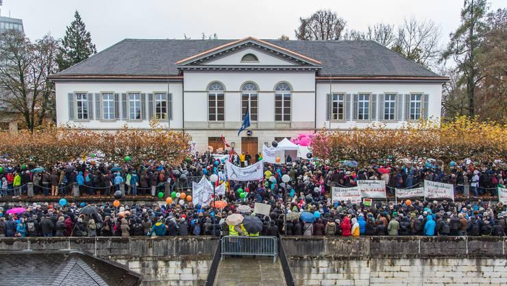 Eigentlich ist das Aarauer Grossratsgebäude unbestrittenerer Mittelpunkt der politischen Macht im Aargau.