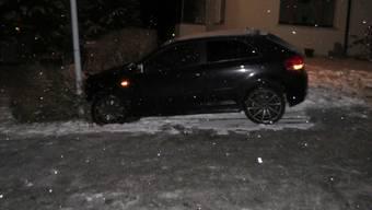 Unfall wegen Schnee