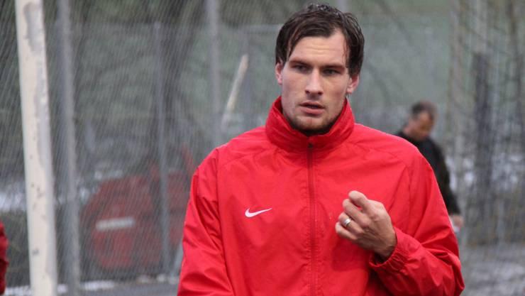 Testspieler Michael Rabusic während des FCA-Trainings in Gränichen