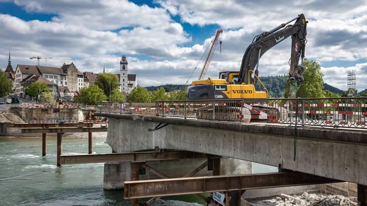 71 Jahre lang hat diese Brücke Aaraus Stadtbild mitgeprägt. In drei Wochen wird sie verschwunden sein.