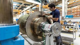 Die Zahl der Beschäftigten hat sich in der Maschinen- und Metallindustrie deutlich reduziert. Gaetan Bally/Keystone