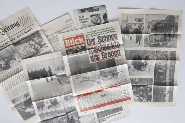So berichteten die Zeitungen über den Flugzeugabsturz in Hochwald.