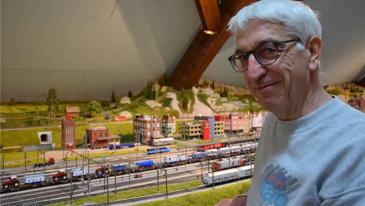 Martin Sieber hat die Eisenbahnamateure Oberengstringen 1984 gemeinsam mit sechs Kollegen gegründet.