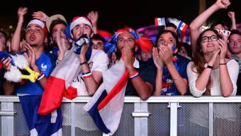 Französische Fans 2016 beim verlorenen Euro-Finale gegen Portugal. Jetzt hoffen sie auf den Weltmeistertitel.