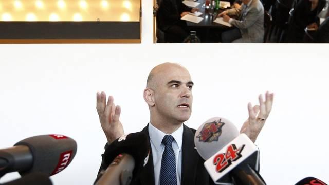 Innenminister Alain Berset während der Medienkonferenz