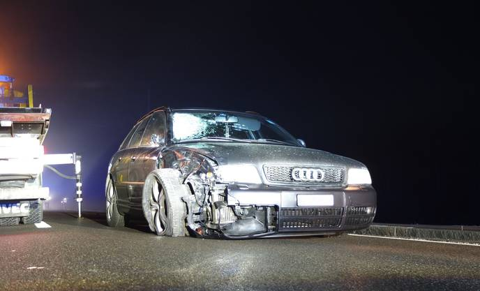 Der Unfallverursacher fuhr in diesem Audi. Er blieb unverletzt, sein Auto erlitt einen Totalschaden.