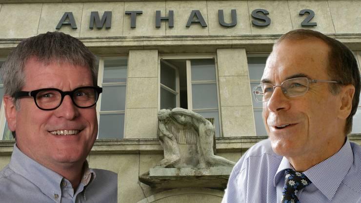 Beide kandidieren: Der bisherige Amtsinhaber Markus Zubler und der wilde FDP-Kandidat Rolf Hofer.