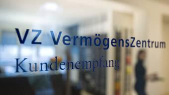 Türe des Vermögenszentrum (VZ) in Zürich (Archiv)