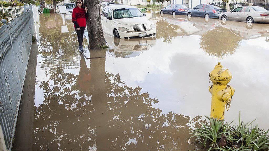 Schwerste Überschwemmung seit hundert Jahren: Im kalifornischen San José ist der Coyote Creek-Fluss über die Ufer getreten.