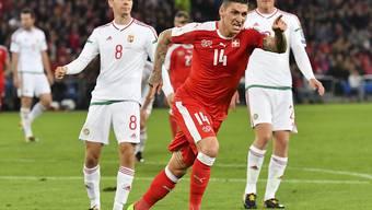 Erzielte gegen Ungarn seine ersten Länderspiel-Tore: Steven Zuber