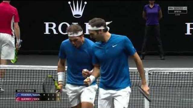 Das Traum-Doppel Federer-Nadal siegt im Laver Cup.