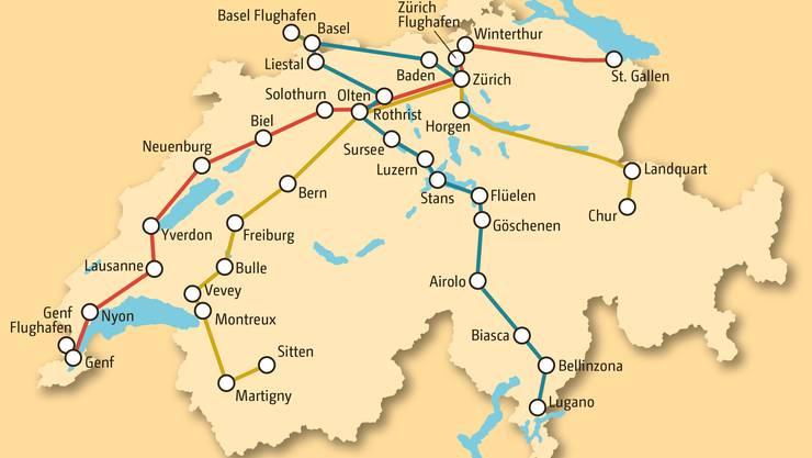 Die Domo Swiss Express AG hat vom Bundesamt für Verkehr eine Konzession für drei Fernbuslinien quer durch die Schweiz erhalten.  Domo-Reisen