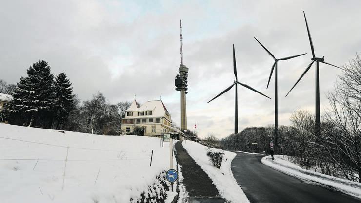 Der Chrischona-Turm in Bettingen erhält keine Gesellschaft Das Resultat der Windmessungen ist negativ.