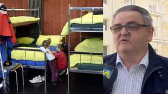 Kinder in einem Asylzentrum - Aarburgs Ammann Hans-Ulrich Schär möchte keine zusätzlichen Asylsuchenden in seiner Gemeinde.