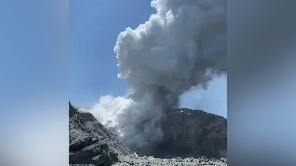 Mindestens fünf Tote bei Vulkanausbruch auf White Island