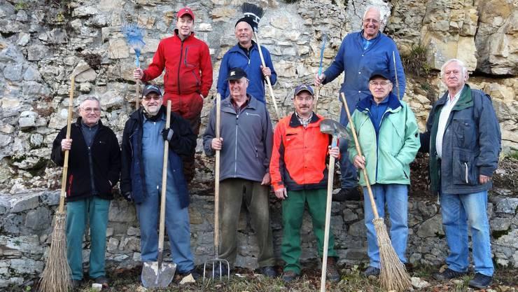 Die Ruinenputzer in Gipf-Oberfrick haben sehr gute Arbeit geleistet. - Quelle: Walter Christen