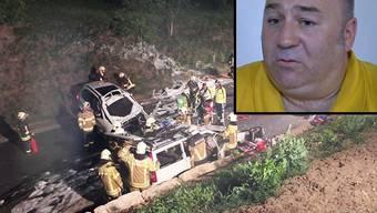 Ein Lernfahrer hat am Montagabend die Kontrolle über einen BMW X5 verloren und ist in Veltheim frontal in einen Volvo gekracht. Der Fahrlehrer griff ein, konnte den Unfall aber nicht verhindern. «Tele M1» gab er am Dienstag ein Interview.