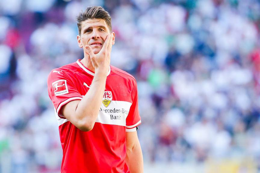 Mario Gomez vom VfB Stuttgart gastiert am Samstag im FM1-Land. (Bild: Keystone/DPA/Tom Weller)