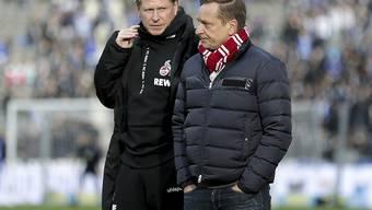 Keine einfache Situation für Trainer Markus Gisdol (links) und Sportchef Horst Heldt vom 1. FC Köln