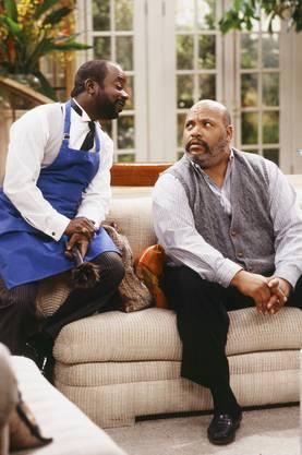 James Avery (rechts) mit Butler Geoffrey (Joseph Marcell) in der Serie «Der Prinz von Bel-Air»