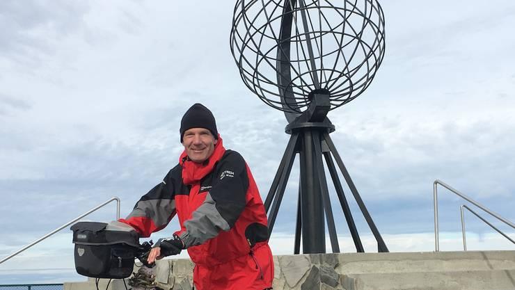 Der gebürtige Windischer, Mark Balsiger, ist im Sommer 2016 mit dem Velo von Bern ans Nordkap gefahren. Als er Ende August am Nordkap angekommen ist, hatte es glücklicherweise nur wenige Touristen.