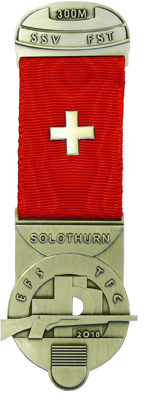Unten auf dem Kranzabzeichen 2018 ist das Solothurner Wappen zu sehen.