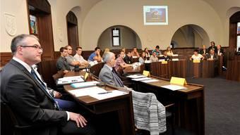 Bildungsdirektor Remo Ankli und Stefan Ruchti, Chef des Amtes für Berufsbildung, Mittel- und Hochschulen (Mitte), wünschen den jungen Solothurner Berufskräften viel, viel Glück an den Berufsmeisterschaften in Bern.