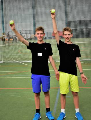 Gelungener Trainingstag für Joel (links) und Cyril Kunz aus Auenstein AG