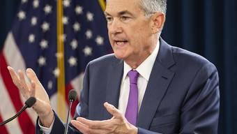 Fed-Chef Jerome Powell schlägt am Dienstag Alarm, weil ein ungeordneter Brexit auch negative Auswirkungen auf die USA haben könnte. (Archivbild)