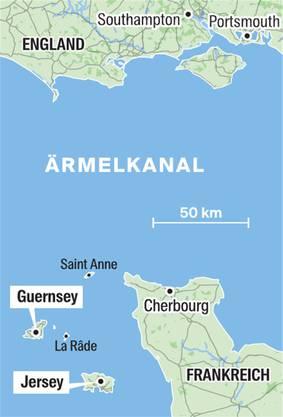 Guernsey ist die zweitgrösste Kanalinsel zwischen Frankreich und Grossbritannien.