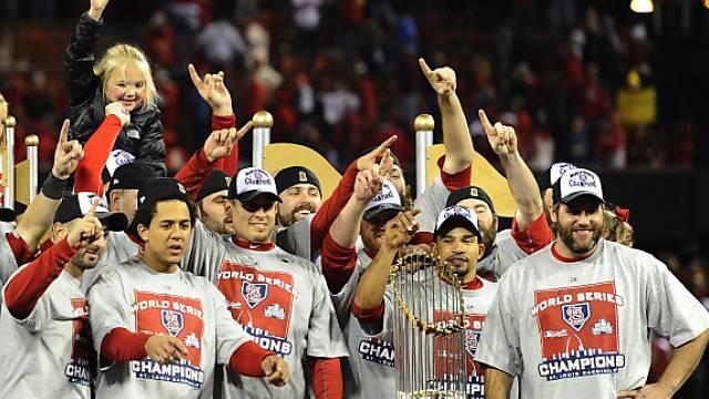 Die St. Louis Cardinals feiern ihren Titel.