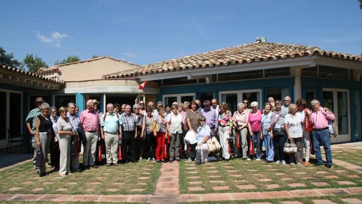 Freiämter Weinfreunde vor dem Restaurant bei Torres (Spanien)